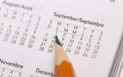 Tax Diary September/October 2020